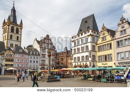 Market Square In Trier Germany