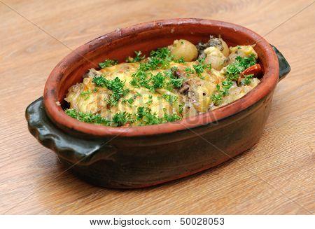Dish With Potatos And Meat