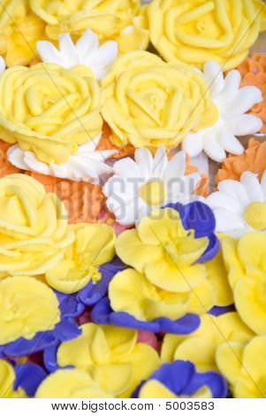 Royal Icing Flowers Background