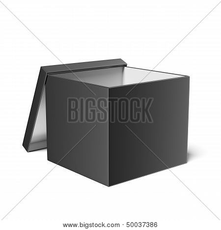 Black opened box