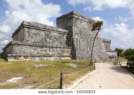 Ancient Mayan temple of Tulum, Mexico