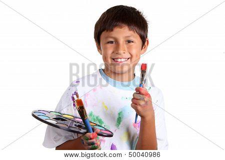 Young boy artist