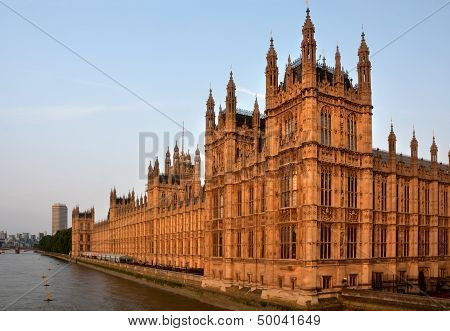 Houses Of Parliament From Westminster Bridge Early Morning Landscape
