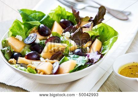 Grape And Cantaloupe Salad