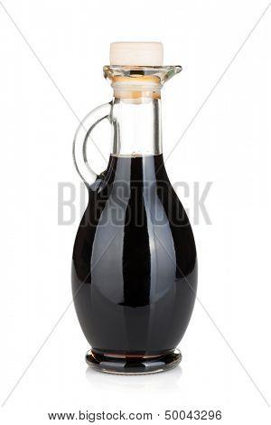 Vinegar bottle. Isolated on white background