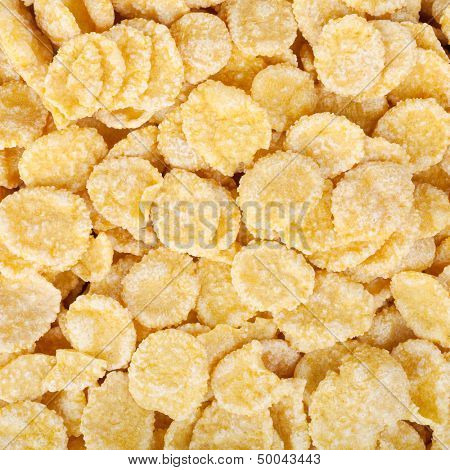 Corn flakes food background