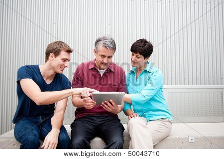 Family On Tablet