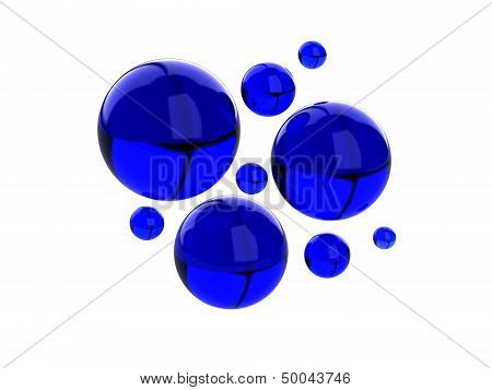 Color Abstract With Transparent Bubbles