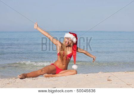 christmas holiday vacation at the beach