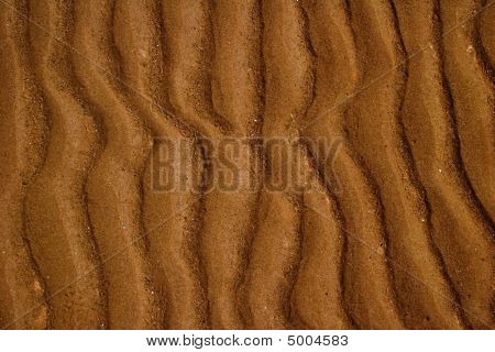 sand ripples on the floor of the Bay of Fundy poster
