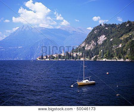 Lake Como, Varena, Italy.