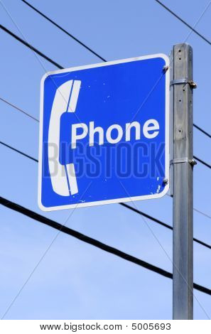 Blue Phone Sign