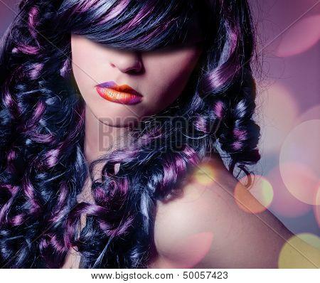 color de pelo rizado