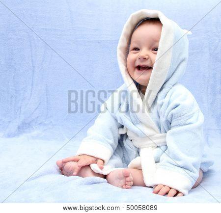 Happy Baby After Bath