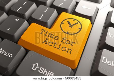 Keyboard with Time For Action Button.