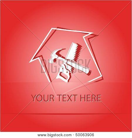 Workshop. Paper sticker as bookmark. Vector illustration. Eps10.
