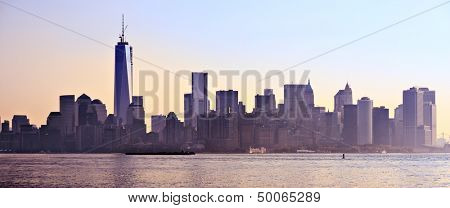 New York City Panorama spanning from Lower Manhattan to Brooklyn across the East River.