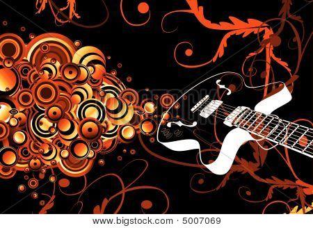 Retro Guitar Singing Bubbles