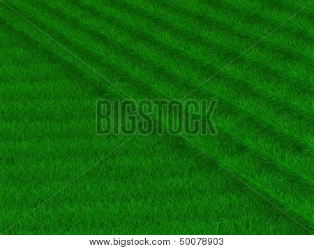 staircase from grass. 3D image poster