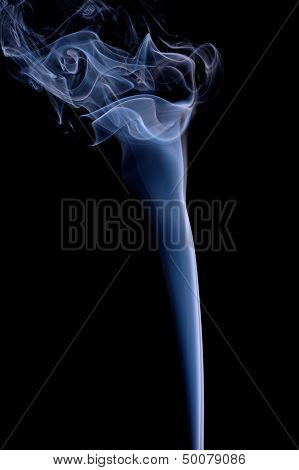 Smoke or Steam Rising against a Black Background poster
