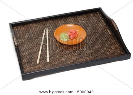 Orange Saucer With Ginger