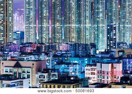 Kowloon district in Hong Kong