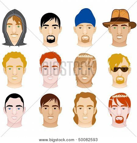 White Mens Faces