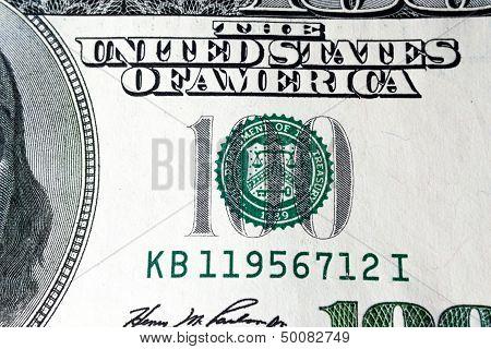 One Hundred Dollar, Details