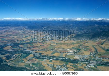 Aerial View Of Valley Of Rio Aragon