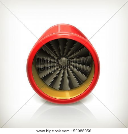 Turbine vector icon