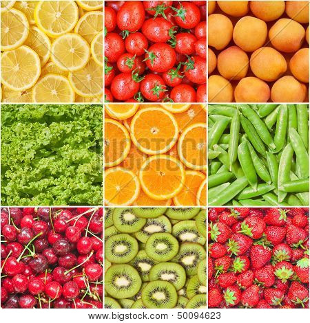Healthy food background.