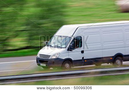 Fast white van