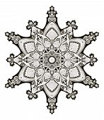 A beautiful Arabic middle eastern floral pattern motif based on Ottoman ornament poster