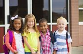 Portrait of Young Kids first day of School poster