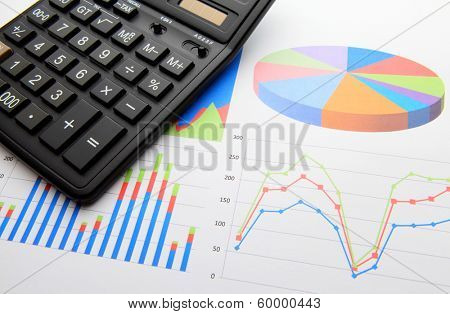 Data chart with calculator