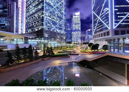 Hong Kong commercial district