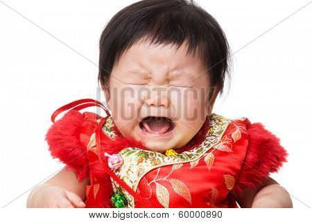 Chinese baby girl crying