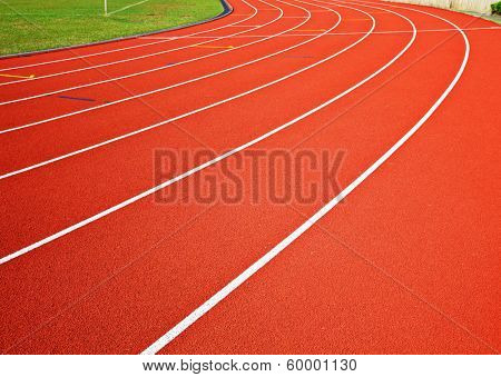 Track running lanes