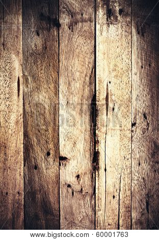 Wood Texture For Your Background. Grunge Wooden Background With Grain, Dark Brown Color.