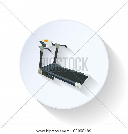 Treadmill flat icon