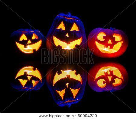 Halloween Pumpkins Glowing Inside
