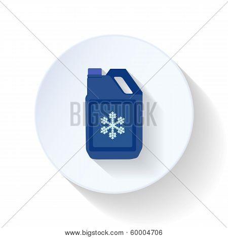 Coolant flat icon