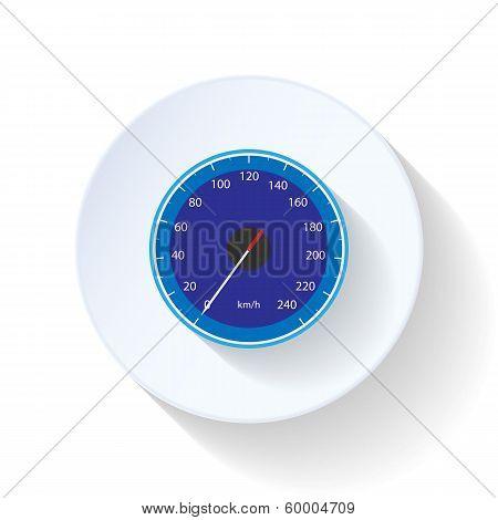 Speedometr flat icon