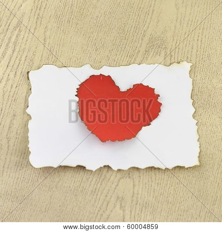 Heart And White Paper