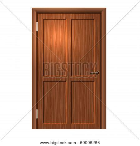 Realistic Wood door. Vector