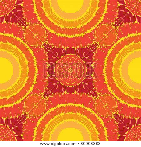 Sunny pattern seamless