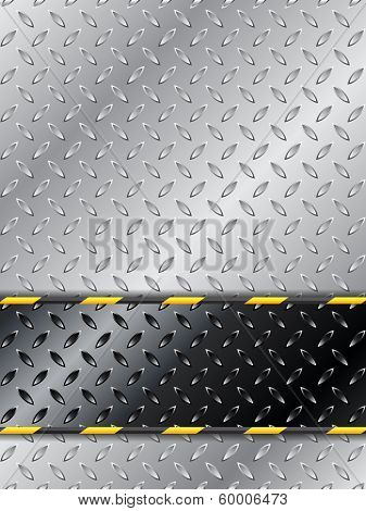 Customizable Industrial Background Design With Metallic Plate