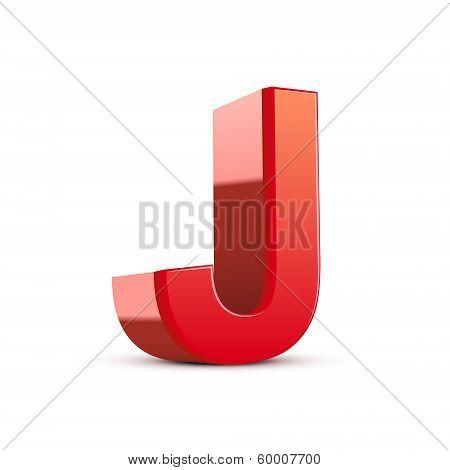 3D Red Letter J