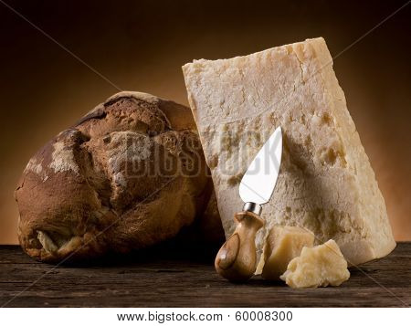parmesan cheese and bread