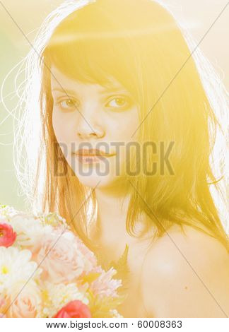 Young Woman In Yellow Clor Light